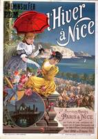 'Winter in Nice', poster advertising P.L.M train