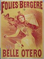 Poster advertising 'la Belle Otero' at the Folie