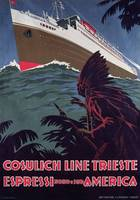Poster advertising the 'Cosulich Line'