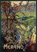 Poster of Merano, printed by Richter