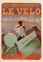 Advertisement for Le Velo, printed by Affiches Cam