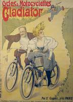 Poster advertising Gladiator bicycles and motorcyc