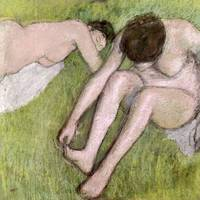 Two Bathers on the Grass, c.1886 90
