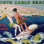 """Poster advertising Monte Carlo Beach, printed by D"" by fineartmasters"