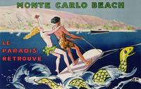 Poster advertising Monte Carlo Beach, printed by D