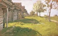 Sunlit Day. A Small Village, 1898