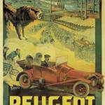"""Poster advertising Peugeot cars, c.1908"" by fineartmasters"