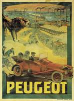 Poster advertising Peugeot cars, c.1908