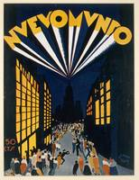Nuovo Mondo, poster advertising a Radio City style