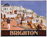 Poster advertising travel to Brighton