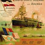 """Poster advertising the North German Lloyd Line, 18"" by fineartmasters"