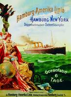 Poster advertising the Hamburg American Line, 1897