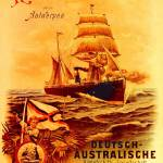 """poster advertising the German Australian Steamship"" by fineartmasters"