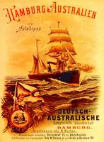 poster advertising the German Australian Steamship