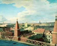 View of the city of Berlin with Altes Museum and C