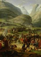 The French Army Travelling over the St. Bernard Pa