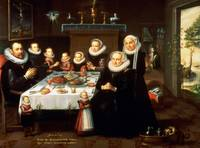 A Portrait of a Family saying Grace Before a Meal,