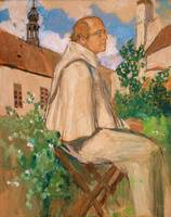 Portrait of the geneticist Johann Gregor Mendel, 1