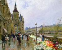 Flower Sellers by the Seine