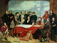 Conference of Engineers at Britannia Bridge, c.185
