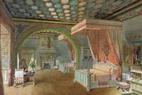 The Pink Room in the Chateau de Roquetaillade, 186