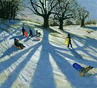 Winter Tree, Snow Sledgers, Calke Abbey, Derby
