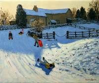 Children Sledging, Monyash, Derbyshire