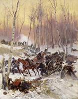 Artillery Combat in a Wood during the Siege of Par
