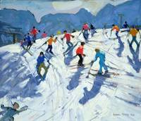 Busy Ski Slope, Lofer, 2004