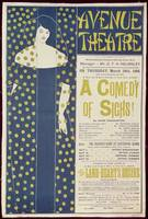 Poster advertising 'A Comedy of Sighs', a play b