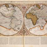 """Double Hemisphere World Map, 1587"" by fineartmasters"