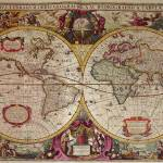 """A New Land and Water Map of the Entire Earth, 1630"" by fineartmasters"