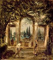 The Gardens of the Villa Medici in Rome, c.1650-51
