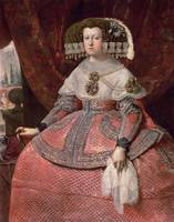 Queen Maria Anna of Spain in a red dress, 1655-60