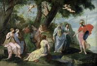 Minerva with the Muses