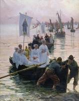 The Arrival of the Procession of St. Anne from Fou