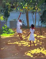 Reaching for Oranges, Bentota, Sri Lanka, 1998