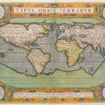 """Typus Orbis Terrarum, map of the world, from Ortel"" by fineartmasters"