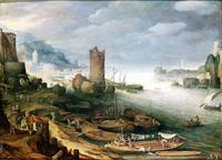 River Scene with a Ruined Tower