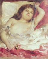 Semi Nude Woman in Bed: The Rose, before 1872