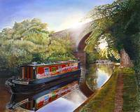 Kate Boat on the Grand Union Canal, 2001