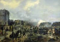 The French-Russian battle at Malakhov Kurgan in 18