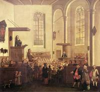John Wesley preaching in Old Cripplegate Church