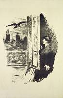Illustration for The Raven, by Edgar Allen Poe, 18