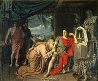 King Priam begging Achilles for the return of Hect