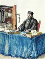 Venetian Moneylender, from an illustrated book of