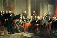 group portrait of the great American inventors of