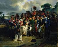 Napoleon bidding farewell to Marshal Jean Lannes,