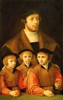 Portrait of a Man and His Three Sons, late 1530s-e