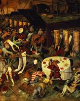 The Triumph of Death, detail of the lower right se